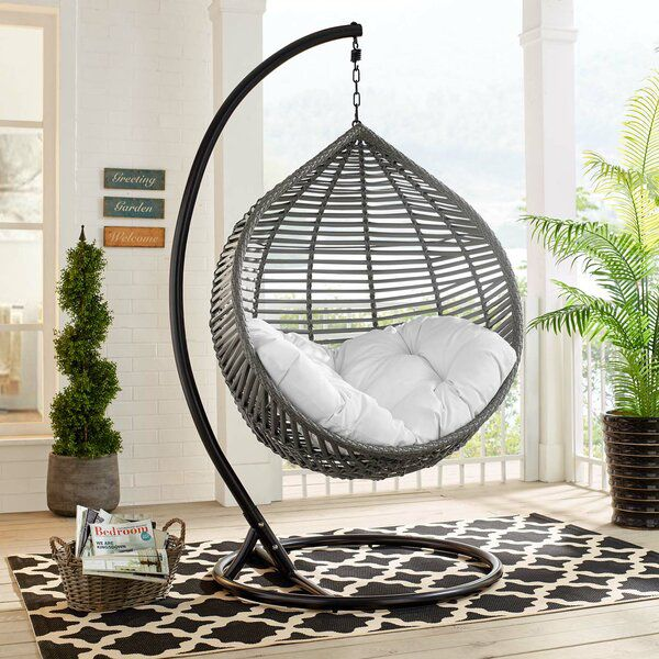 Chenery Teardrop Outdoor Swing Chair With Stand Patio Swing Chair Swing Chair Outdoor Outdoor Patio Swing