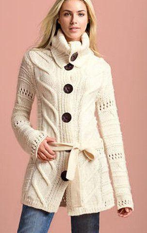 Womens Wool Hand Knit Cardigan.61D
