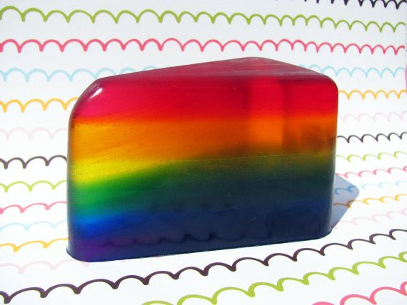Slice of the Rainbow Coconut Soap by Sudsysoaps on Etsy, $5.50