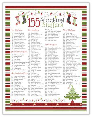 155 Stocking Stuffer Ideas Free Printable