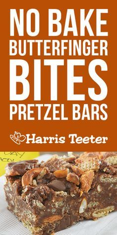 With milk chocolate morsels, pretzels, peanut butter and Nestlé Butterfinger Bites candy pieces, these no-bake bars are the perfect sweet and salty treat both kids and adults can enjoy!