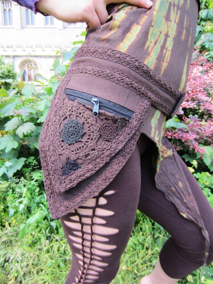 Pocket Belt Fanny Pack Bum Bag Vegan Crochet Hippy Festival Psytrance Wear | Clo…