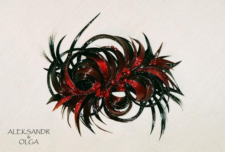 Украшение - ЗАКОЛКА - постиж, рубиновая (ИЗ натуральных ВОЛОС) http://www.livemaster.ru/hair-jewellery http://www.aleksandr-and-olga.ru/