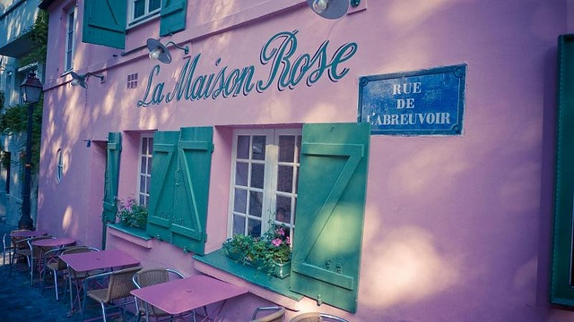 Paris, la maison rose