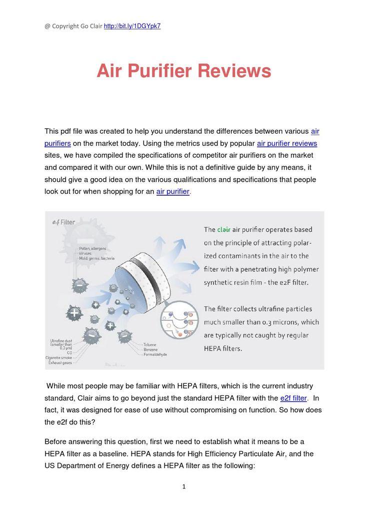 air purifier reviews - Air Purifier Reviews