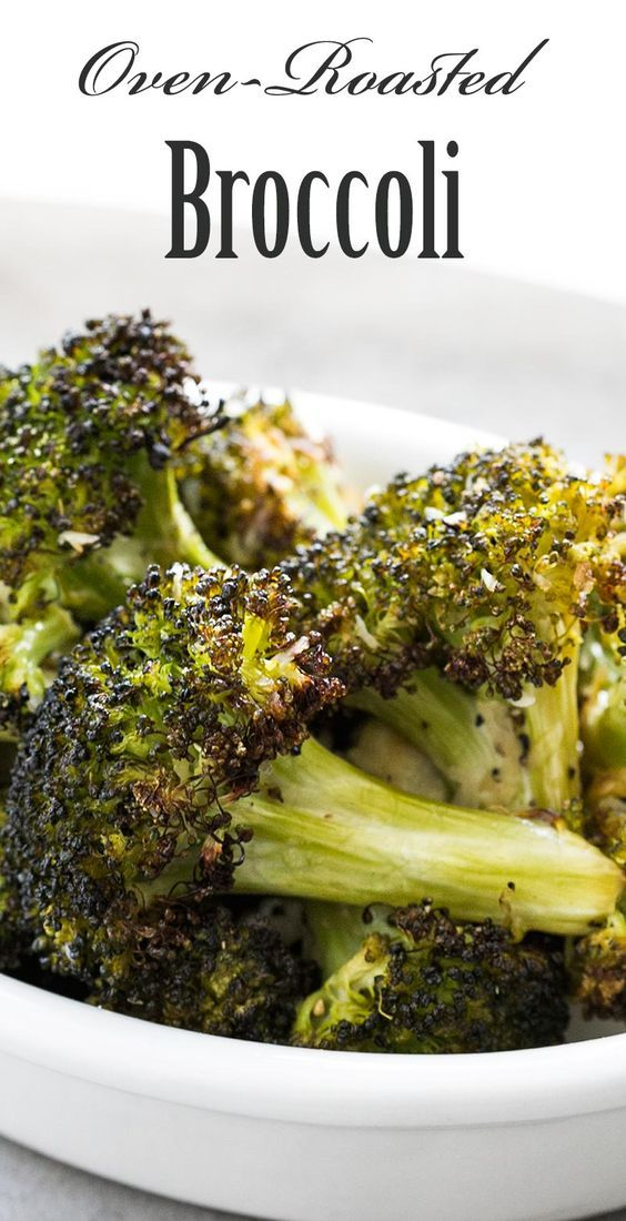 The BEST way to eat broccoli? Roasted! Just toss in olive oil lemon juice and salt roast in oven on high heat sprinkle with Parmesan and black pepper. So healthy and good. Low carb too!