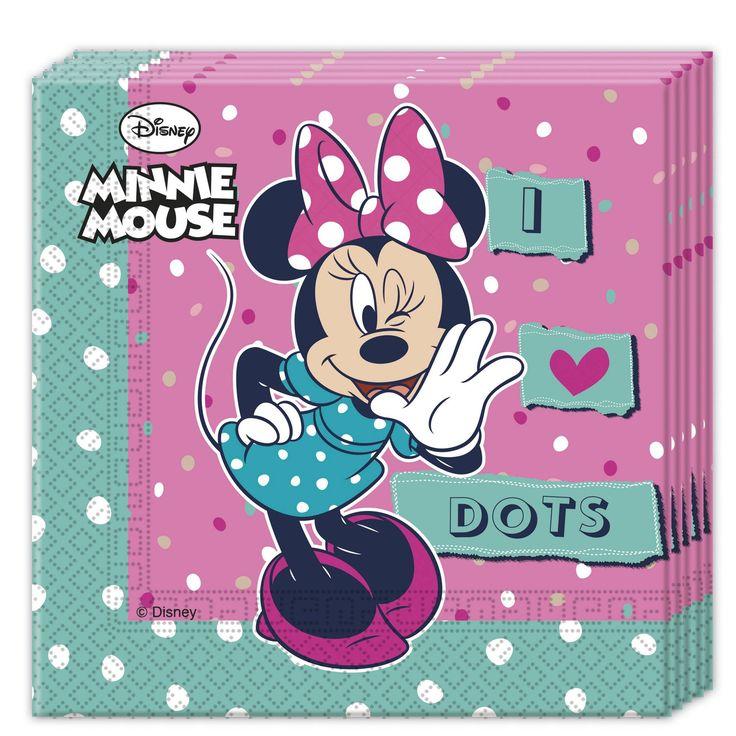 Confezione 20 tovaglioli Minnie™ su VegaooParty, negozio di articoli per feste. Scopri il maggior catalogo di addobbi e decorazioni per feste del web,  sempre al miglior prezzo!