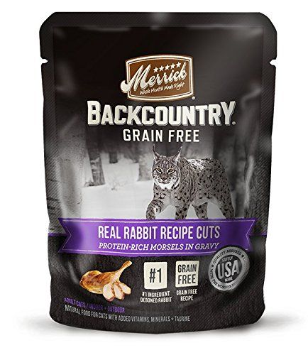 Merrick Backcountry Real Rabbit Recipe Cuts Wet Cat Food, 3 oz pouches (24 in a case) *** Check this awesome product by going to the link at the image. (This is an affiliate link and I receive a commission for the sales)