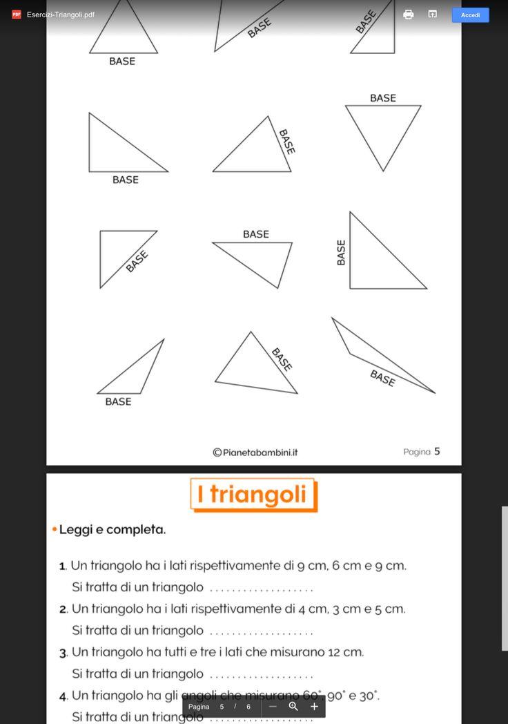 Pin di Renata Stella su Scuola Triangoli, Triangolo