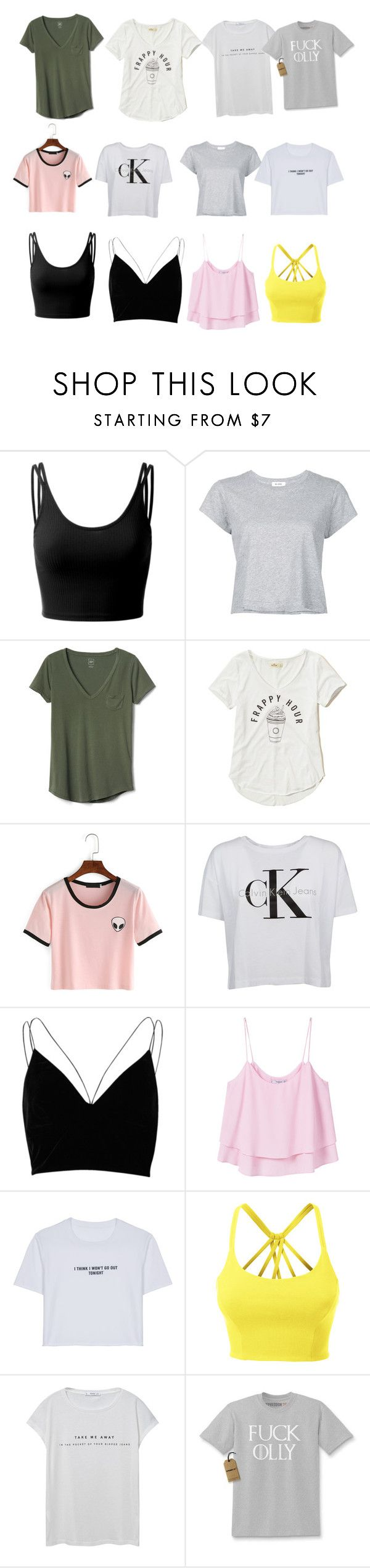 """Untitled #276"" by timcaaa on Polyvore featuring Doublju, RE/DONE, Gap, Hollister Co., Calvin Klein, River Island, MANGO, WithChic and LE3NO"