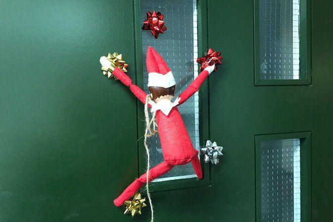 Elf Swing Seat On the Shelf Xmas Christmas Decoration Novelty Elf Accessories