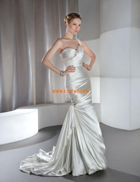 Halle Perlenstickerei Schnürung Brautkleider 2014