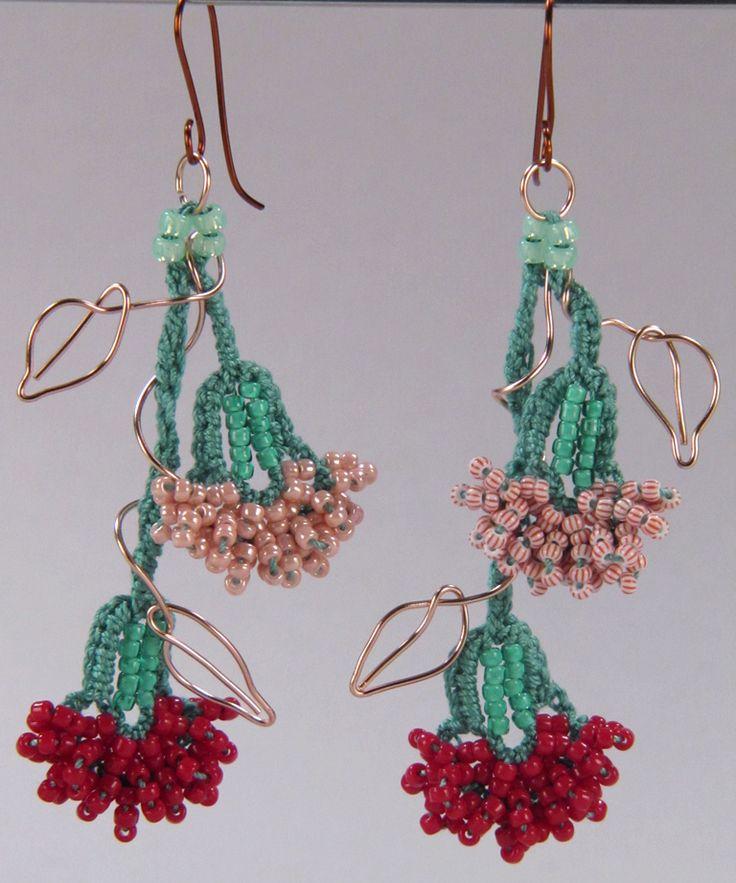 Bead Crochet Carnation Earrings | Flickr - Photo Sharing!