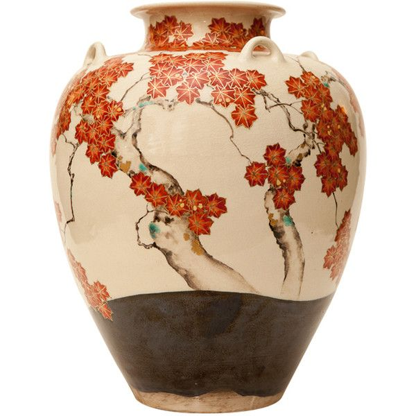 See this and similar vases - For Sale on 1stdibs - Japanese 19th century studio vase with seal of Makuzu Kozan (1842-1916). Autumn with maple leaf design.