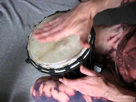Buben Djembe 50 cm - základní údery na africký rytmický nástroj