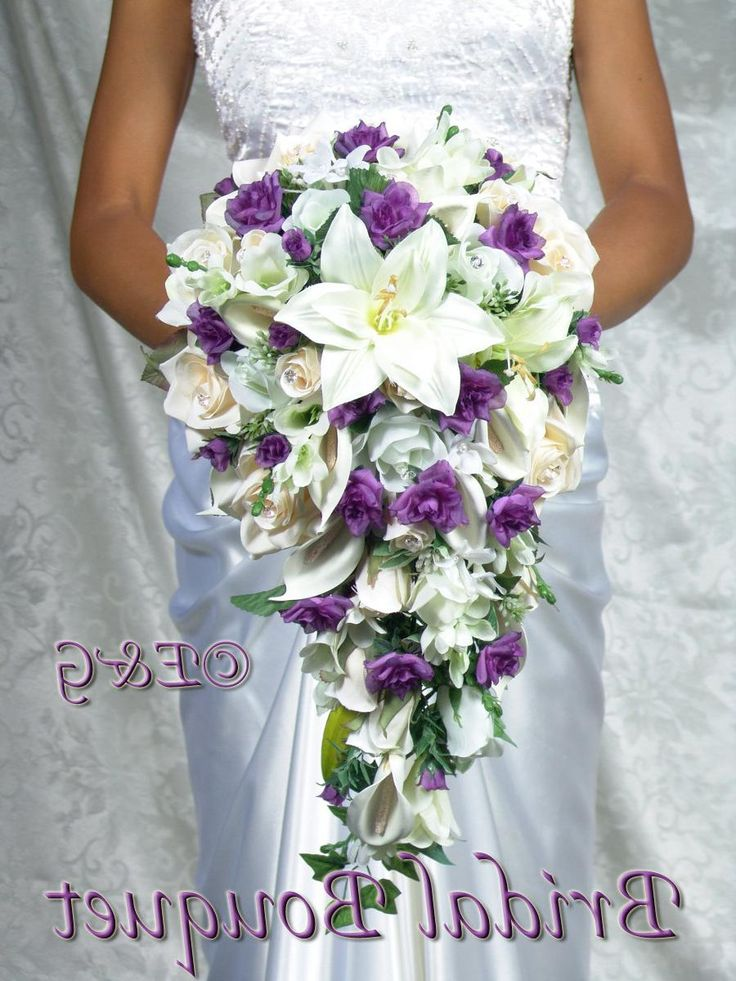 Cascading Bridal Bouquets | bridal bouquet package silk