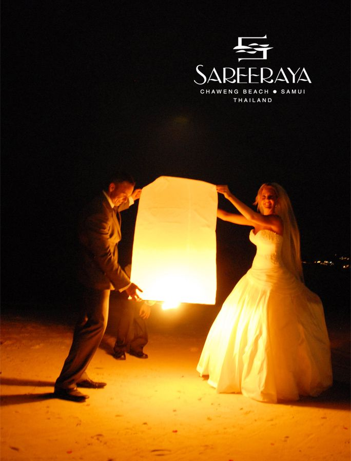 Flying Paper Wish Lanterns, also known as Sky Lanterns, always add an exciting and beautiful element to the Weddings. The tradition of the lanterns is to make a wish, light the lantern, and let it float up to the sky.