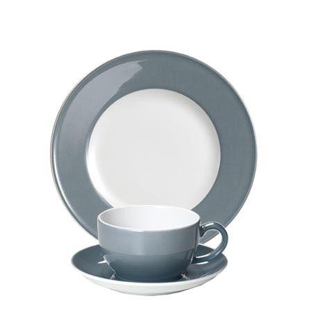 #Dibbern Solid Color Grau - Frühstücksgedeck