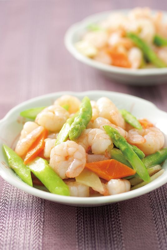 prawn and asparagus stir fry | Taiwanese cuisine #recipe in Chinese