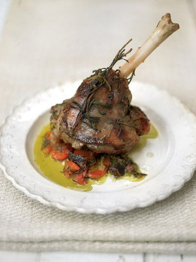 Lamb shanks taste even more juicy and tender when baked in foil parcels with a rosemary, sage and thyme butter