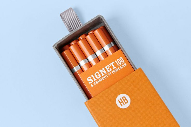 Signet 100 HB Pencils designed by Well Made Studio