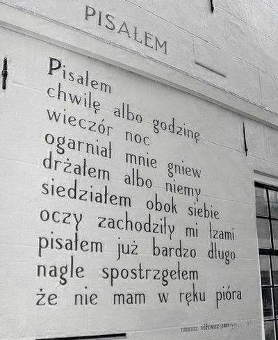 Tadeusz Różewicz - Pisałem
