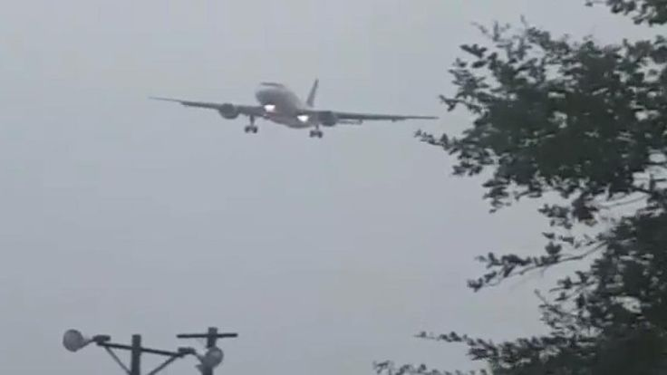 MYRTLE BEACH, S.C. -- Incredible video shows an Allegiant flight battling winds from Tropical Storm Irma as it attempts to land at the Myrtle Beach International Airport on Monday. The video, which was submitted to WMBF by Christopher and Malgorzata Rosafort, was filmed on a golf course around noon.
