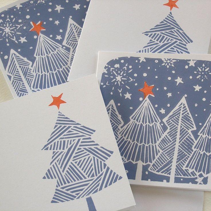 Image result for christmas linocut designs