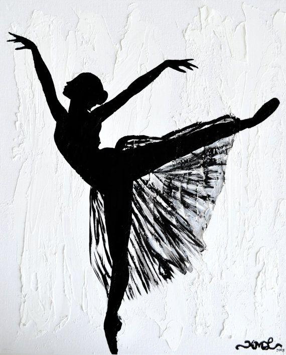 Картинки балерин в черно белом