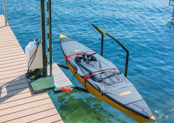 Seawall mounted kayak launch Kayak Ladder Lift & Launch