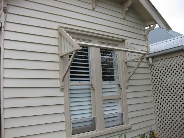 Timber Window Awning Installation