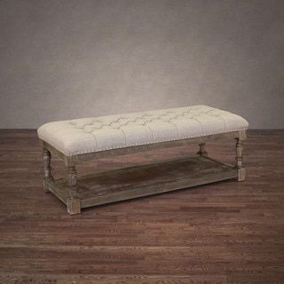 Shop for Creston Beige Linen Tufted Bench. Get free shipping at Overstock.com - Your Online Furniture Outlet Store! Get 5% in rewards with Club O!
