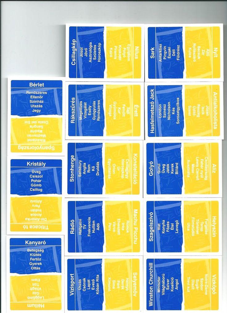 Szabály:        Tábla:       Kártyák: