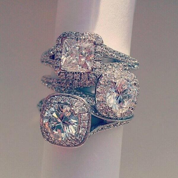 These #diamond rings by House of Stones are amazing! #WeddingWednesday >>>Wow, they look great!  http://www.julify.com/