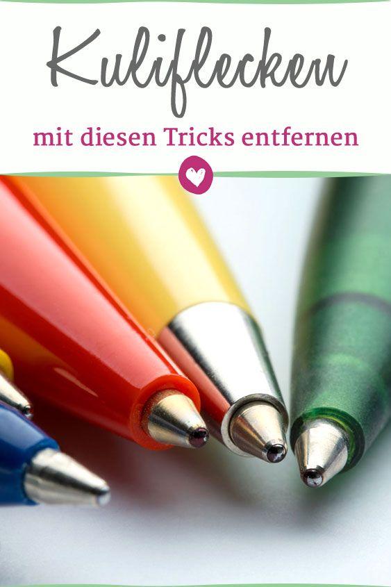 Flecken Vom Kugelschreiber Entfernen Diese Hausmittel Helfen Kugelschreiber Entfernen Kugelschreiber Kugelschreiber Flecken