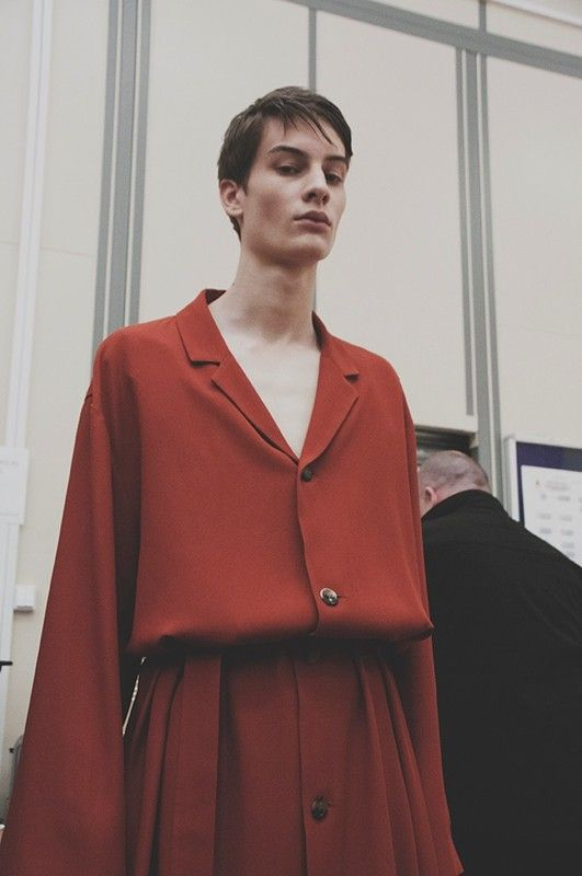 Sleepy, seductive masculinity at J.W. Anderson SS15, London Collections: Men. More images here: http://www.dazeddigital.com/fashion/article/20315/1/j-w-anderson-ss15