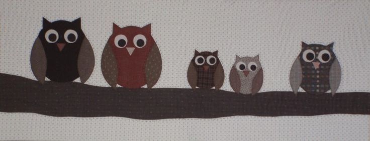 How cute is this!!! LOVE it! Parliament of owls kitset using the owl template from Carol's Quilts.