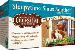 Best Hot Toddy!! Sleepytime Sinus Soother™ Wellness Tea | Celestial Seasonings with honey and a shot of brandy.