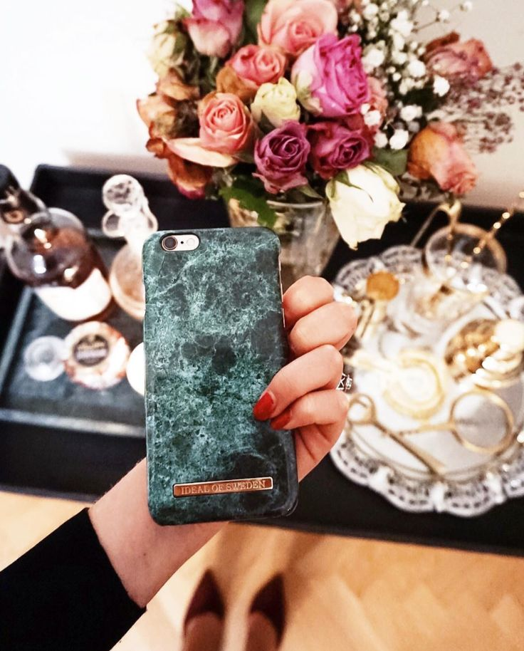 @ sofiegraw green marble, marble case, ideal of sweden, interior, flowers, romantic