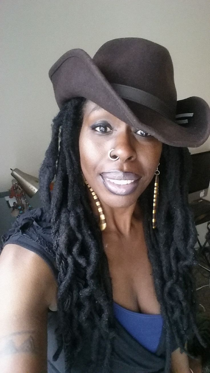 Dark Skin Women In Art Thick Locs Dark Skin Hats Locs