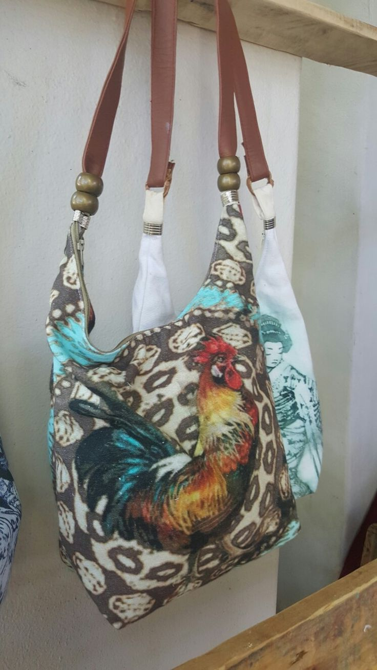 Chicken print on bag made by me