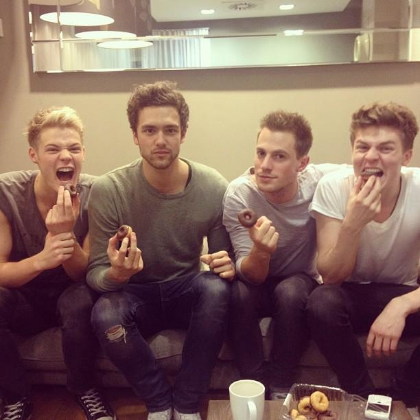 "Long day of interviews equals 1 thing: doughnuts. | LAWSON!! :""> When She Was Mine :""> Andy Joel Ryan Adam 