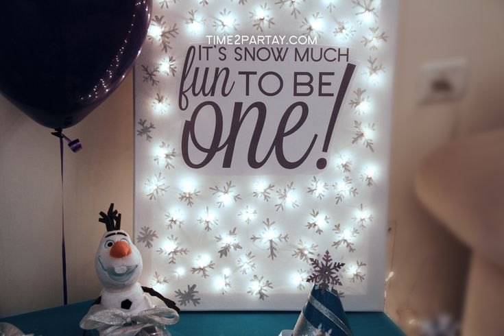 Winter Onederland Frozen birthday party! See more party planning ideas at CatchMyParty.com!