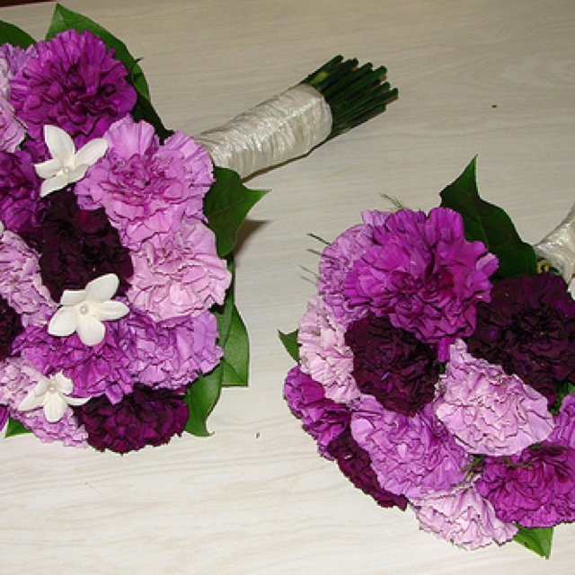 Purple Carnation Wedding Bouquets By Westosha Fl