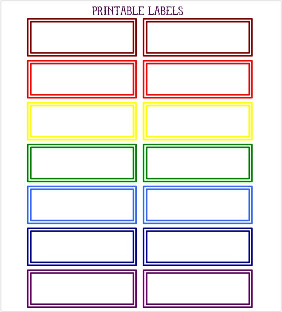 Printable Rainbow Labels for back-to-school