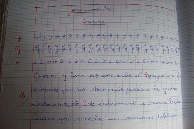 Mes fiches d'écriture | Majuscule cursive, Copie ce1 et Fiches