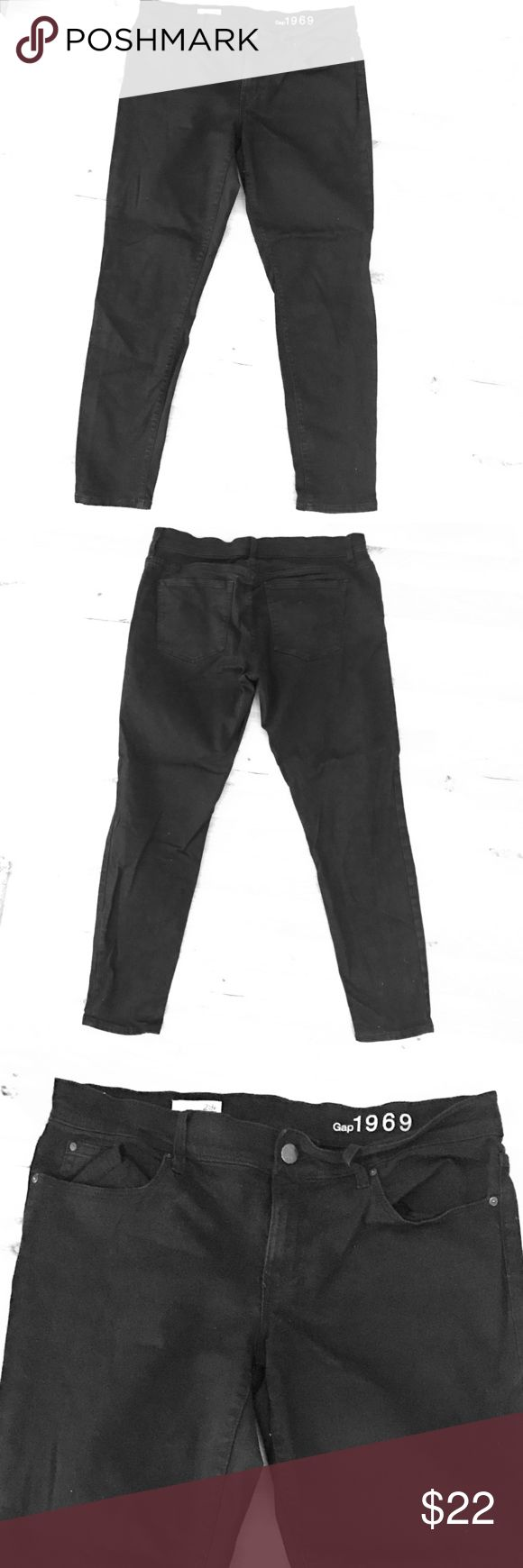 Gap Legging Jean 1969 fit. 29 petite legging jean Gap black jeans. Women's mid rise. Like new. Super comfortable. GAP Jeans Skinny