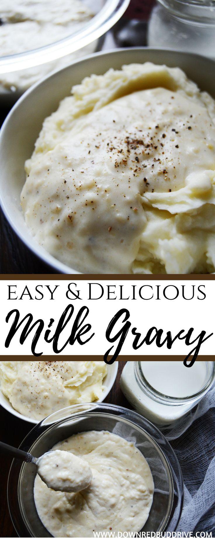 Milk Gravy | Milk Gravy Recipe | White Gravy Recipe | Easy Gravy Recipe | Breakfast Gravy | Sausage Gravy | Bacon Gravy Recipe | Sausage Biscuits and Gravy Recipe |