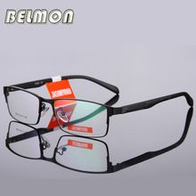 BELMON Hombres Marco de Las Lentes Ópticos Informáticos Gafas Lente Clara Armacao gafas de Montura de gafas Para Hombre Transparente RS009