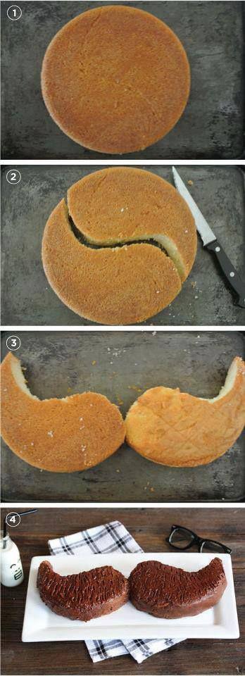 Torta en forma de Mostacho